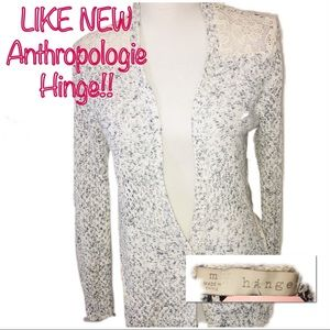 •ANTHROPOLOGIE | LIKE NEW | Knit & Lace Cardigan•